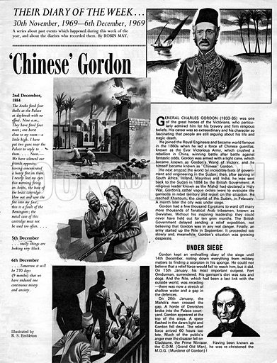 Their Diary of the Week: 'Chinese' Gordon.
