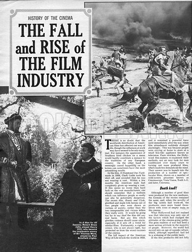 History of the Cinema: The Fall and Rise of the Film Industry.