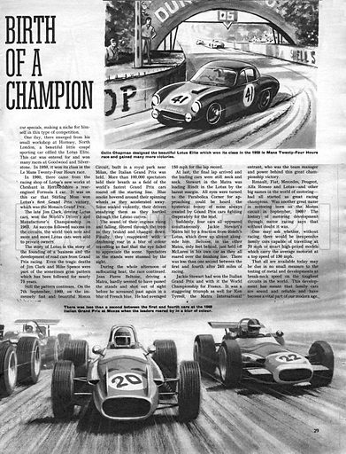 Men and Motors: The Birth of a Champion.