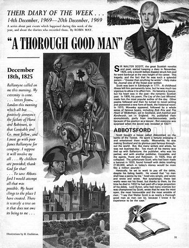 """Their Diary of the Week: """"A Thorough Good Man""""."""