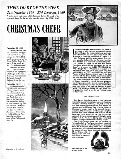 Their Diary of the Week: Christmas Cheer.