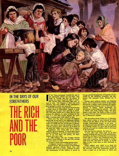 In the Days of Our Forefathers: The Rich and the Poor.