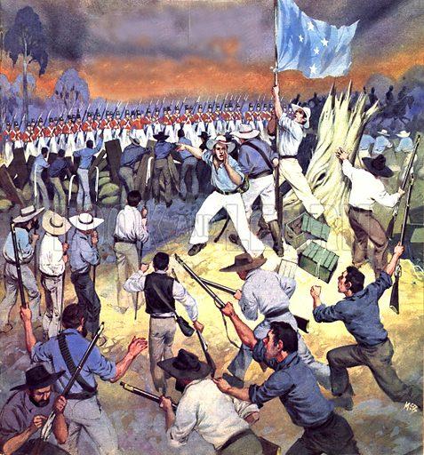 The Defence of the Eureka Stockade.