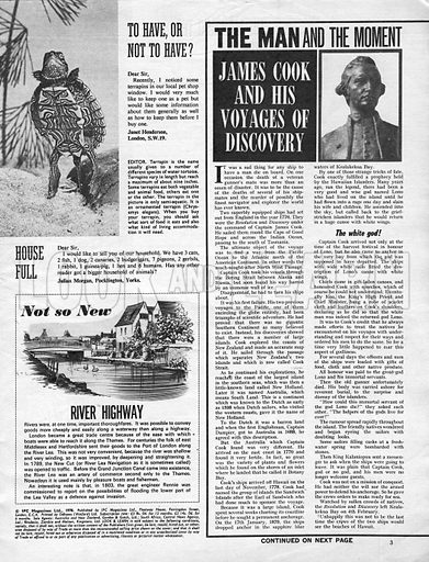 The Man and the Moment: James Cook and His Voyages of Discovery.