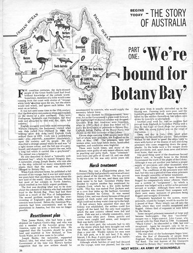 """The Story of Australia: """"We're Bound for Botany Bay""""."""