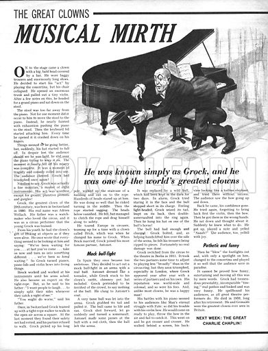 The Great Clowns: Musical Mirth.
