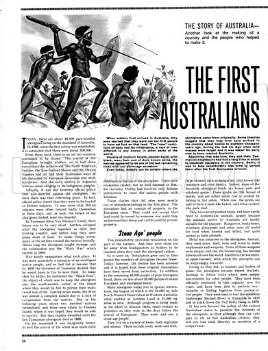 The Story of Australia: The First Australians.