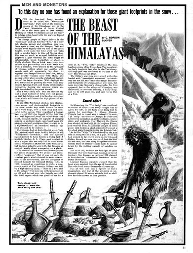 Men and Monsters: The Beast of the Himalayas.