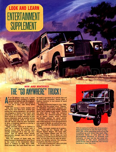 Men and Machines: The 'Go Anywhere' Truck.