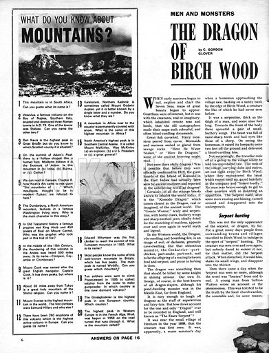 Men and Monsters: The Dragon of Birch Wood.