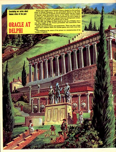 Famous Cities of the Past: Oracle at Delphi.