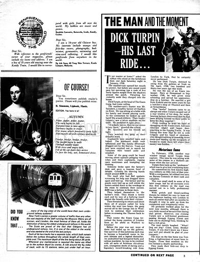 The Man and the Moment: Dick Turpin -- His Last Ride.