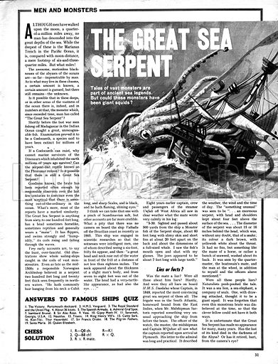 Men and Monsters: The Great Sea Serpent.