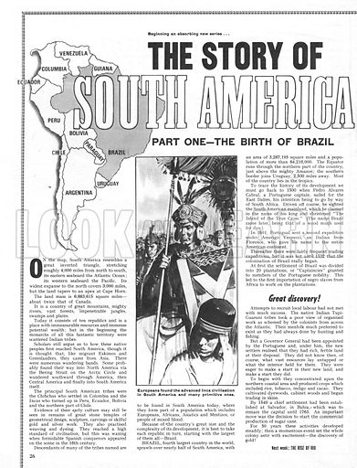 The Story of South America: The Birth of Brazil.