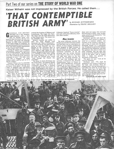 The Story of World War One: 'That Comptemptible British Army'.
