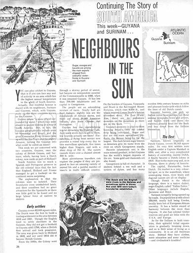 The Story of South America: Neighbours in the Sun.