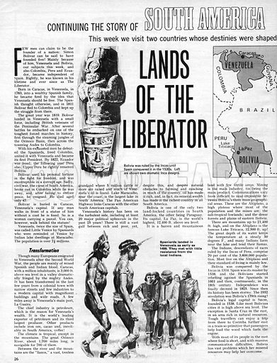 The Story of South America: Lands of the Liberator.