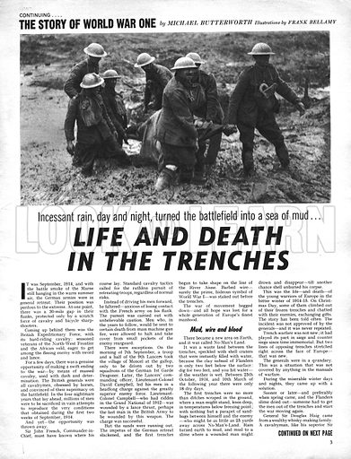 The Story of World War One: Life and Death in the Trenches.