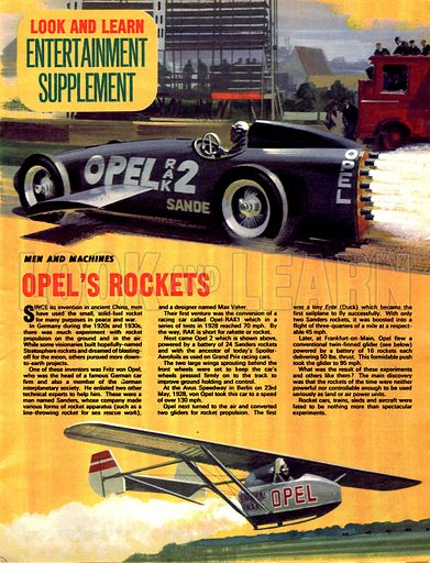 Men and Machines: Opel's Rockets.