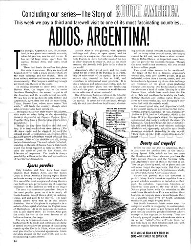 The Story of South America: Adios, Argentina!.