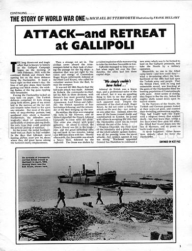The Story of World War One: Attack -- and Retreat at Gallipoli.