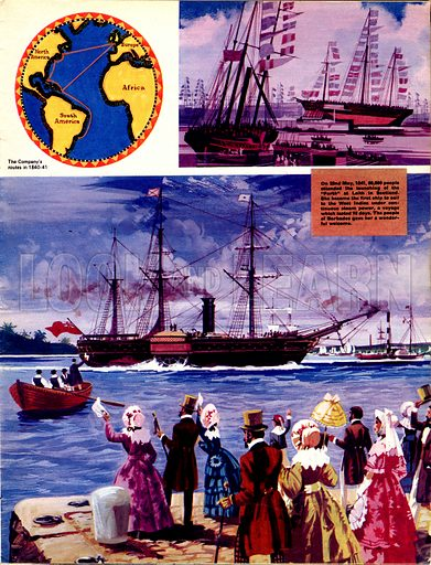 They Sailed the Seven Seas: Great Steamers, White and Gold (The Royal Mail Line).