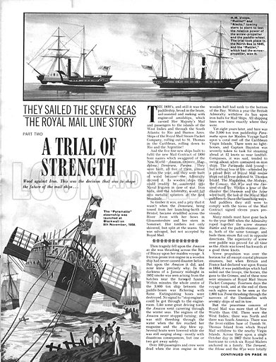 They Sailed the Seven Seas: A Trial of Strength (The Royal Mail Line).