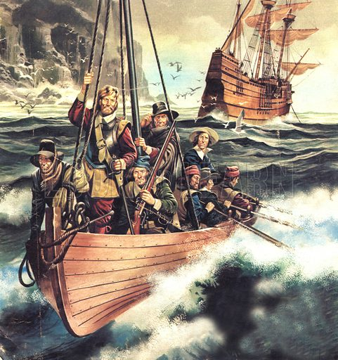 "The Pilgrim Fathers: Men of the ""Mayflower""."