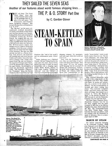 They Sailed the Seven Seas: The P & O Story -- Steam-Kettles to Spain.