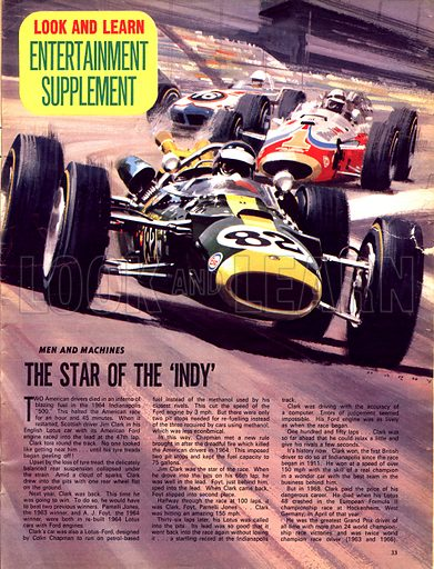 Men and Machines: The Star of the 'Indy'.