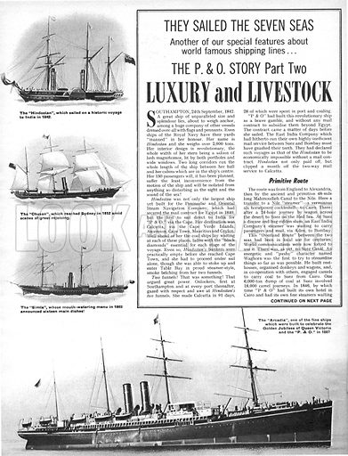 They Sailed the Seven Seas: The P & O Story -- Luxury and Livestock.