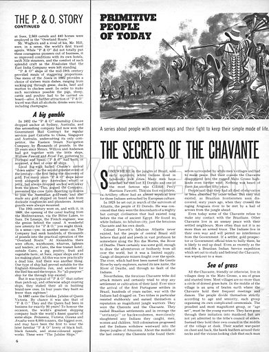 Primative People of Today: The Secrets of the Chavante.