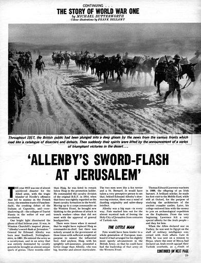 The Story of World War One: 'Allenby's Sword-Flash at Jerusalem'.