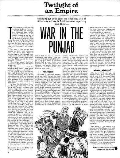 Twilight of an Empire: War in the Punjab.