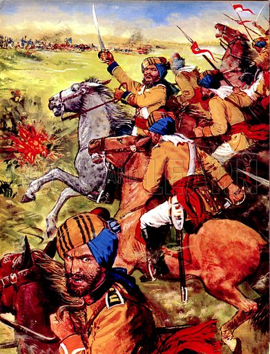 Twilight of an Empire: War in the Punjab. In the War in the Punjab, on 11 December 1845, 20,000 Sikh Cavalrymen headed towards the British lines.