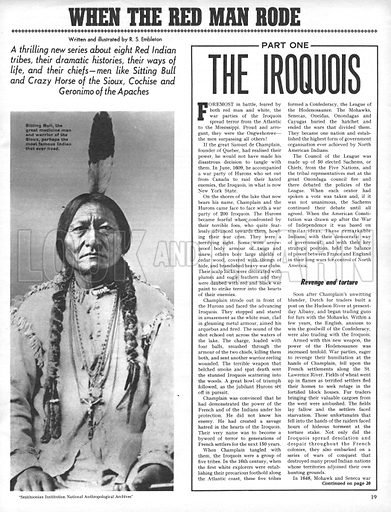 When the Red Man Rode: The Iroquois.