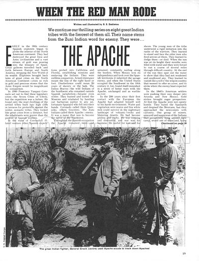 When the Red Man Rode: The Apache.