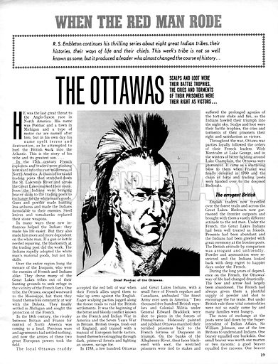 When the Red Man Rode: The Ottawas.