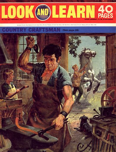 Country Craftsmen. From cover for Look and Learn no. 473.