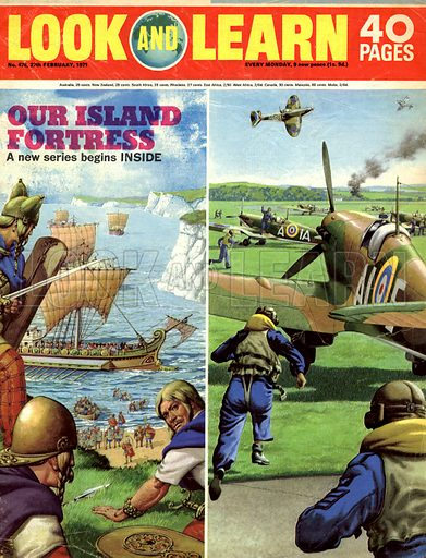 Our Island Fortress. Front cover for Look and Learn no. 476.