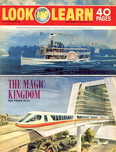 The Magic Kingdom. Cover for Look and Learn no. 477.