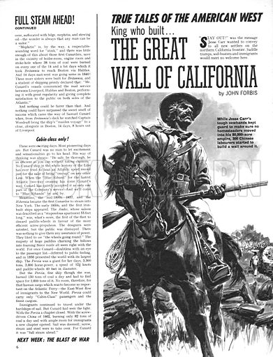 True Tales of the American West: The Great Wall of California.