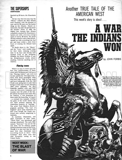 True Tales of the American West: A War the Indians Won.