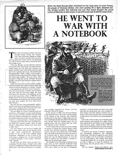 The Story of the Crimea: He Went to War with a Notebook.