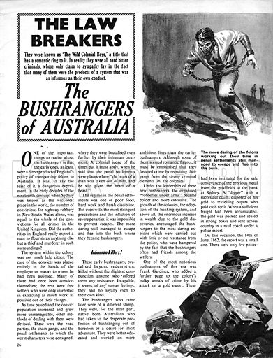 The Law Breakers: The Bushrangers of Australia.