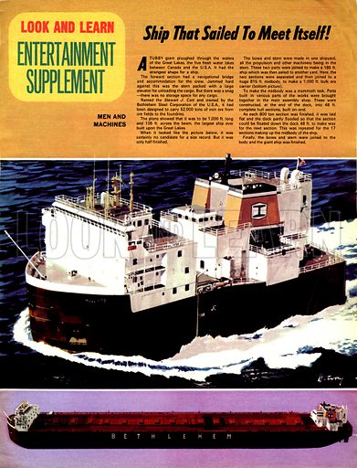 Men and Machines: The Ship That Sailed to Meet Itself! The Stewart J. Cort was made in two different shipyards.