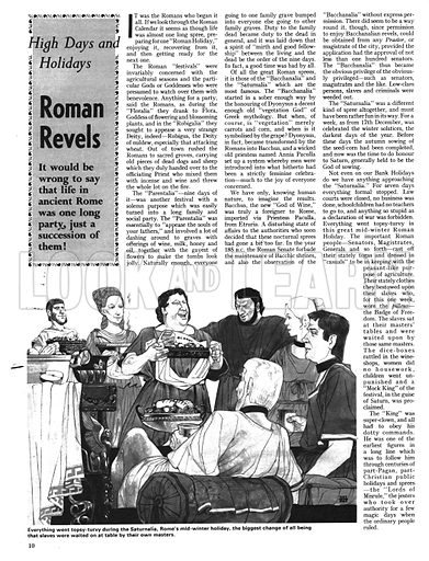 High Days and Holidays: Roman Revels.