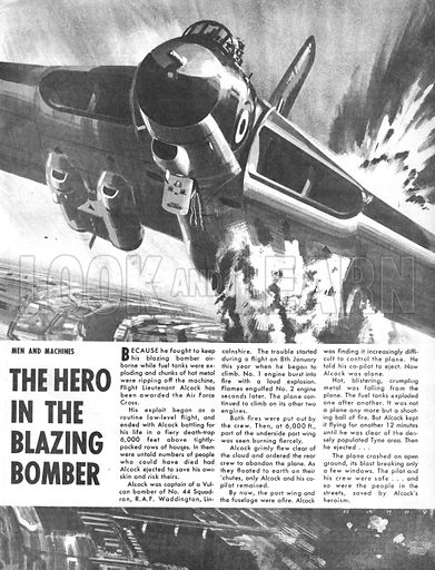 Men and Machines: The Hero in the Blazing Bomber.