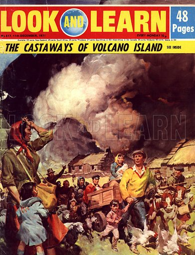 The Castaways of Volcano Island. The story of the lonely isle of Tristan da Cunha in the South Atlantic where a volcano errupted in 1961.