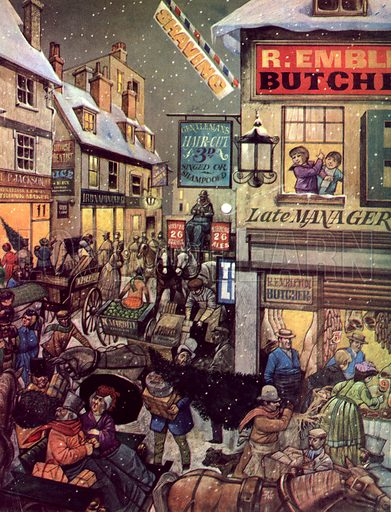 Christmas Shopping One Hundred Years Ago.